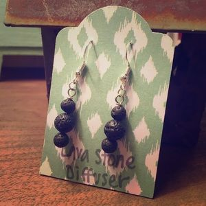 Essential Oil Lava Stone Diffuser Earrings